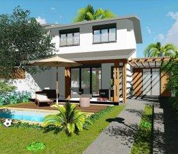 Villas Orchidées, standing, T3/4 proche centre ville de St Pierre et front de mer